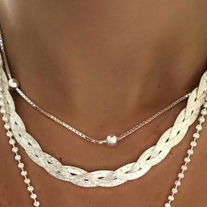 Jewelry - Braided Silver Necklace